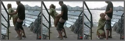 Sexo casero junto a la playa